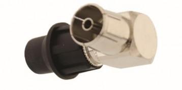 IEC 9.5mm Θηλυκό 90° με CAP